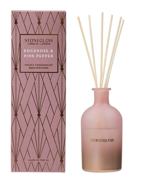 Stoneglow Geometric - Rock Rose & Pink Pepper Reed Diffuser