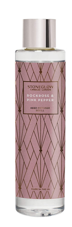 Stoneglow Geometric - Rock Rose & Pink Pepper Reed Diffuser Refill