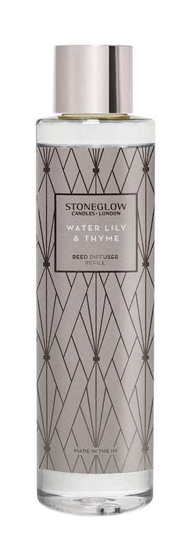 Stoneglow Geometric - Water Lily & Thyme Reed Diffuser Refill
