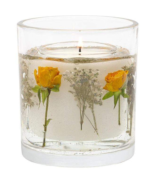 Stoneglow Nature's Gift - Yellow Tea Rose Natural Wax Gel Candle