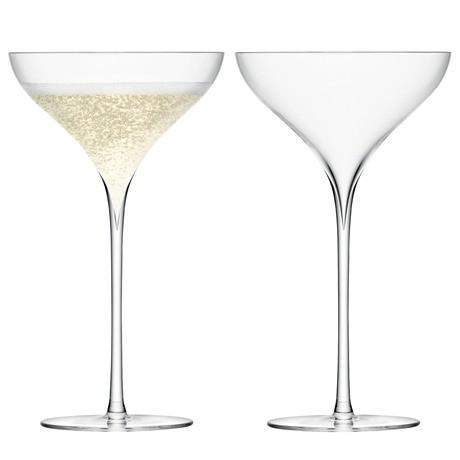 LSA Savoy Champagne Saucer Clear - Pair