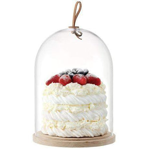 LSA Ivalo Cake/Cheese Dome & Ash Base - 22cm