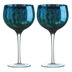 Artland Peacock Gin Glass - Set of 2