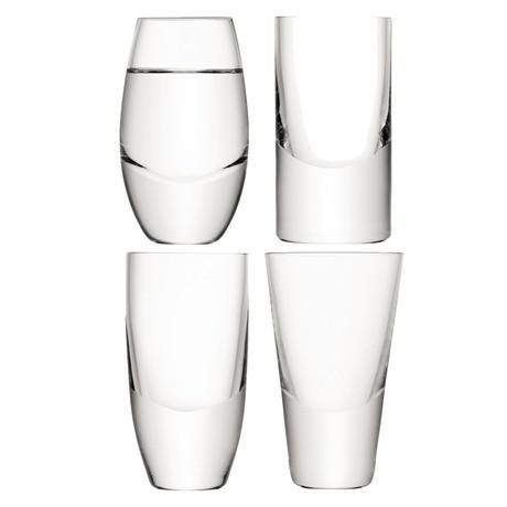 LSA Lulu Vodka Glasses - Assorted - Set of 4