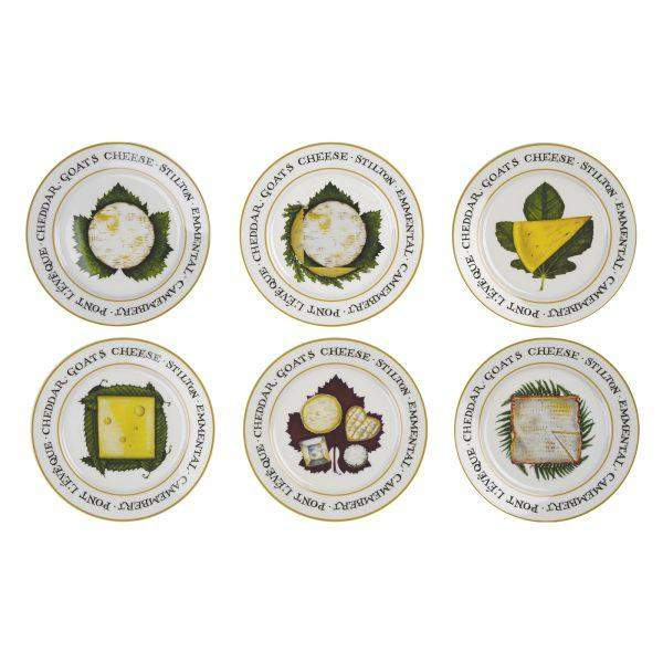Claire Mackie Set of 6 The Cheese Board Plates