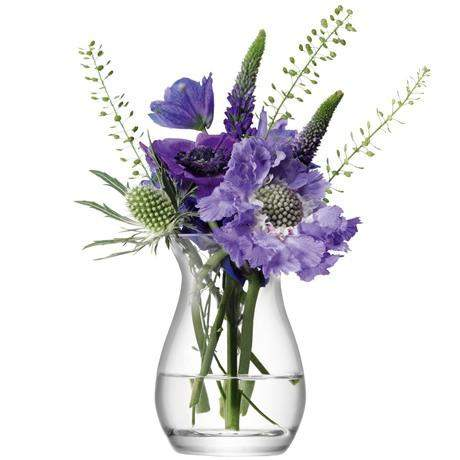 LSA Flower Mini Posy Vase 9.5cm - Clear