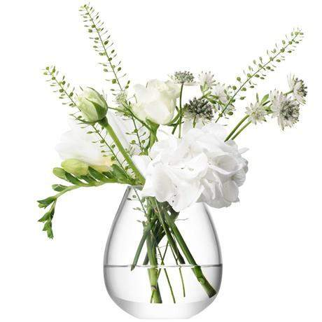 LSA Flower Mini Table Vase 9.5cm - Clear