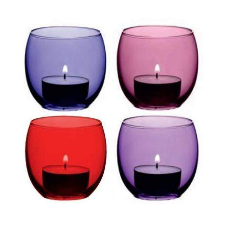 LSA Coro Tealight Holder - Berry Assorted - Set of 4