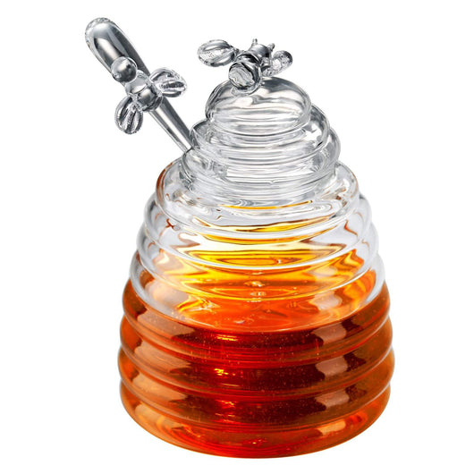Artland Simplicity Glass Honey Pot with Honey