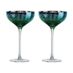 Artland Peacock Champagne Saucer - Set of 2