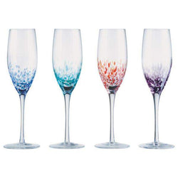 Anton Studio Designs Set of 4 Speckle Champagne Flutes