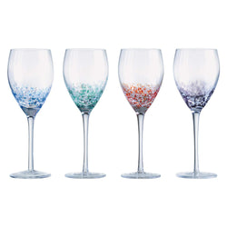 Anton Studio Designs International Set of 4 Speckle Wine Glasses