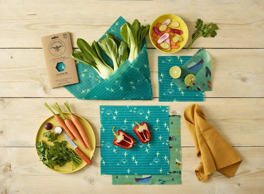 The Beeswax Wrap Large Kitchen Pack - Beeswax Wrap Sea