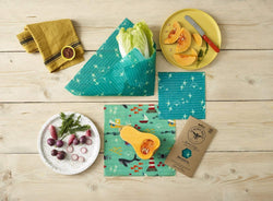 The Beeswax Wrap Medium Kitchen Pack - Beeswax Wrap Sea