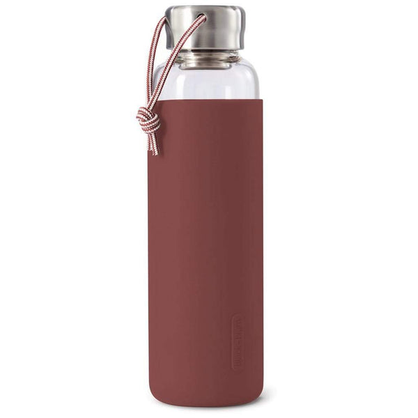 Black + Blum Glass Water Bottle Burgundy