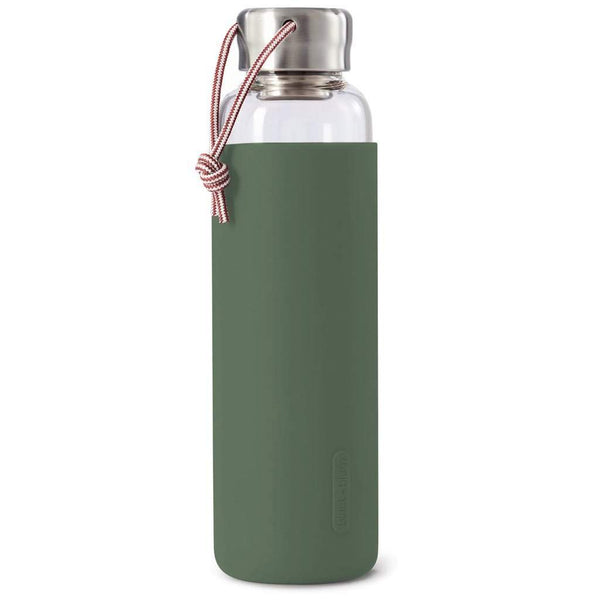 Black + Blum Glass Water Bottle Olive
