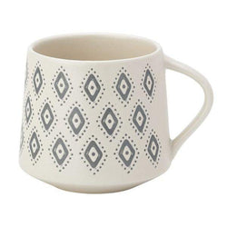 English Tableware Co Artisan Aztec Mug White and Blue