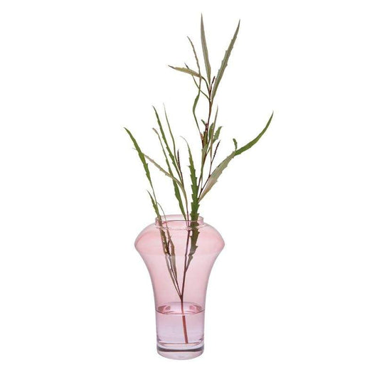 Dartington Crystal Deco Pink Vase