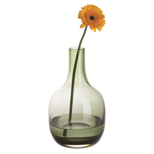 Dartington Crystal Aurora Large Vase Olive Green