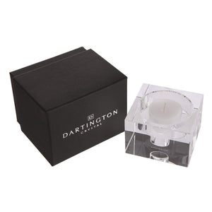 Dartington Crystal Candlelight Block Candle Holder 50mm