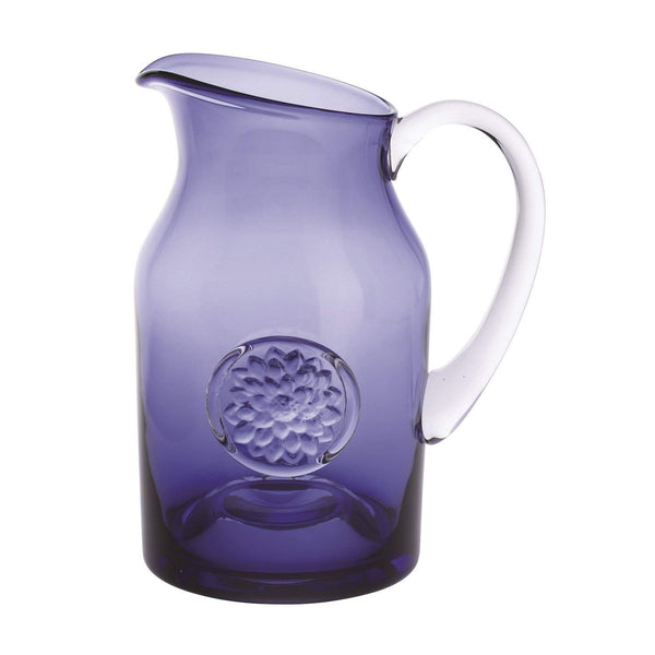 Dartington Crystal Flower Jug Dahlia Large Amethyst