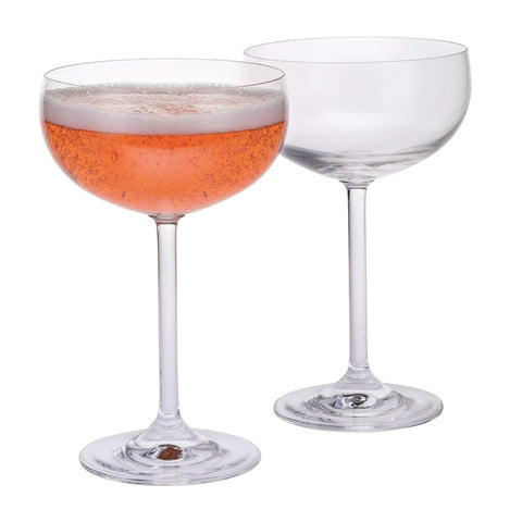 Dartington Crystal Party Champagne Saucers - Set of 6