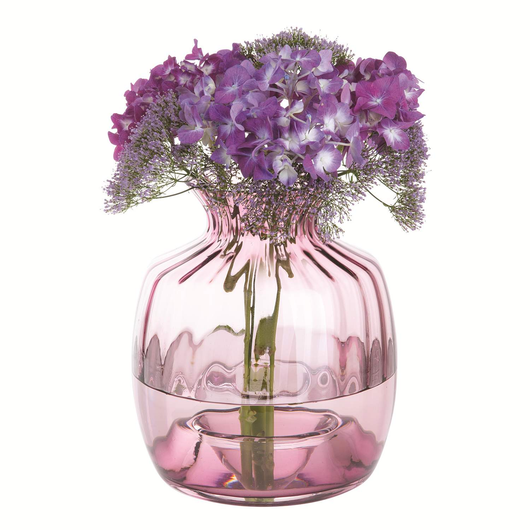 Dartington Crystal Cushion Vase Large Heather Optic