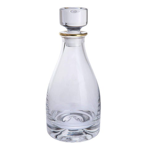 Dartington Crystal Dimple Gold Decanter