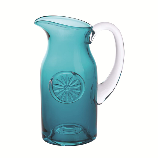 Dartington Flower Jug Daisy Slim Teal