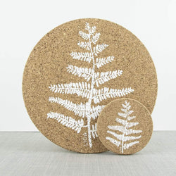 Liga Cork Coaster Set Fern