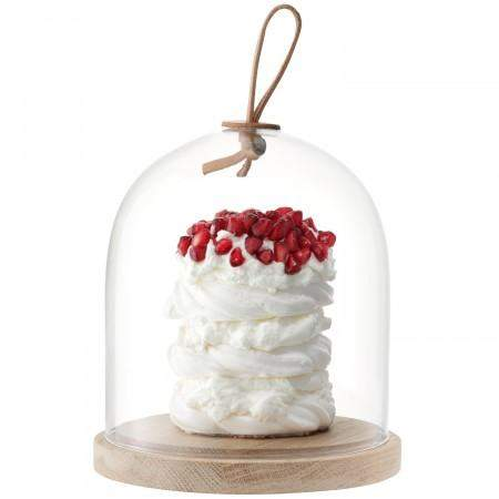 LSA Ivalo Pastries/Cheese Dome & Ash Base - 15.5cm