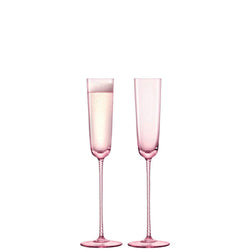 LSA International Champagne Theatre Champagne Flute 120ml Braid/Dawn Pink x 2