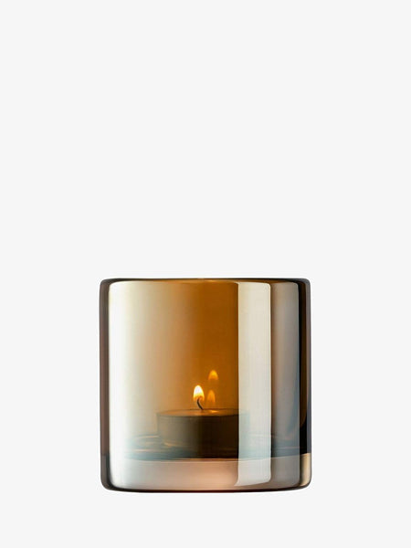 LSA International Epoque Tealight Holder H8.5cm Amber/Lustre