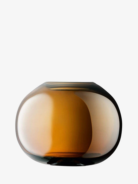 LSA International Epoque Vase H13.5cm Amber/Lustre