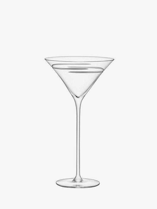 LSA International Verso Cocktail Glass 275ml Clear/Cut x 2