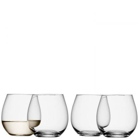 LSA Wine Stemless White Wine - Clear - Set of 4