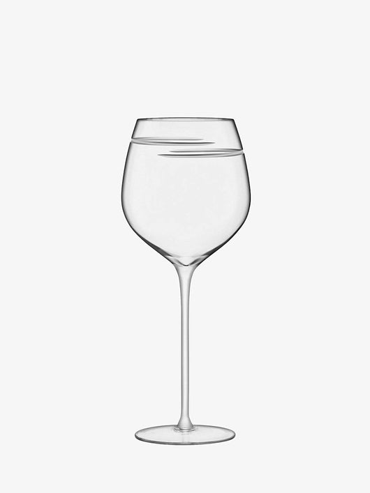 LSA International Verso Red Wine Glass 750ml Clear/Cut x 2