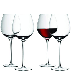 LSA Wine Red Wine Glass - Clear - Set of 4