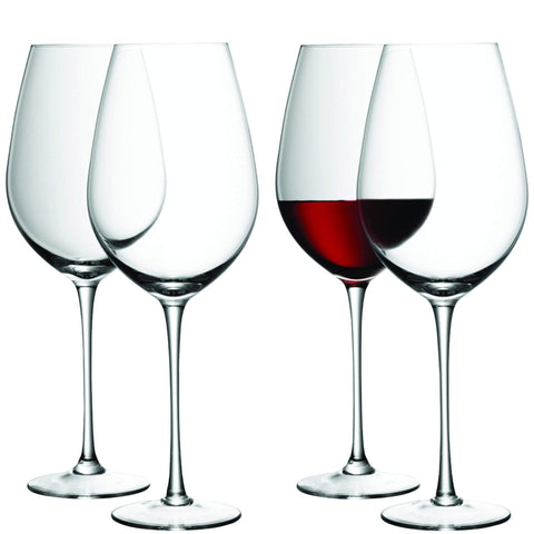 LSA Wine Red Wine Goblet 850ml - Clear - Set of 4