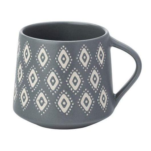 English Tableware Co Artisan Aztec Mug Blue and White