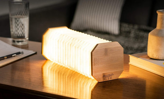 Gingko Bamboo Smart Accordion Lamp