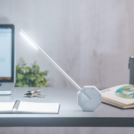 Gingko Octagon One Desk Lamp White