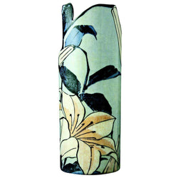 John Beswick Silhouette D'art Vases - Lilies by Hokusai