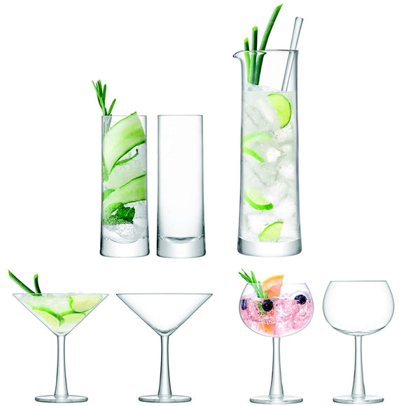 LSA International Gin Cocktail Set Clear