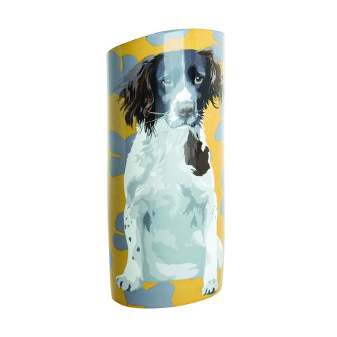 Dartington Crystal Leslie Gerry Vase - Spaniel