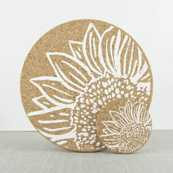 Liga Cork Coaster Set Sunflower