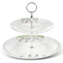 Mosney Mill Edgar Green Rabbit Cake Stand (2 tier)