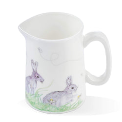 Mosney Mill Edgar Green Rabbit China Jug (Mini)