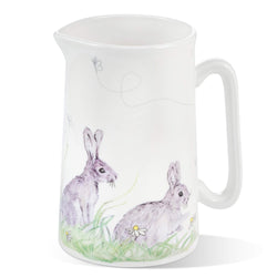 Mosney Mill Edgar Green Rabbit China Jug (Medium)