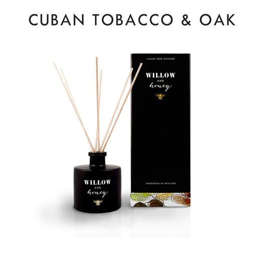 Willow and Honey Luxury Reed Diffuser Cuban Tobacco & Oak 200ml